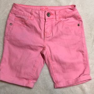 Justice Pink Long Jean Shorts Size 10R